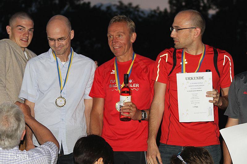 2. Schlatter Dorflauf - 1.Platz in der Staffelwertung